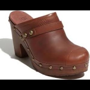 UGG Jolene Brown Studded Clog size 7